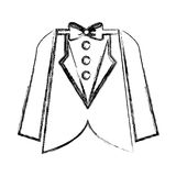 Elegant masculine suit clothes icon Royalty Free Stock Image