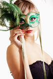 Elegant in mask Stock Photos