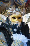 Elegant mask and dress, in Venice, Italy, Europe, close up Stock Images