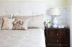 Elegant master bedroom Stock Images