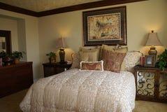 Elegant Master Bedroom. Beautiful elegant master bedroom with stylish decor stock photography
