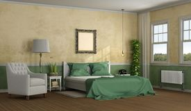 Elegant master bedroom stock photography