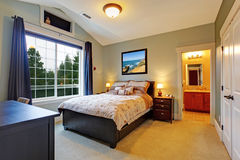 Elegant master bedroom interior Stock Photo