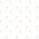 Elegant meadow flowers seamless vector background. Gentle and minimalistic. Good for wedding design Royalty Free Stock Image