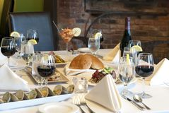 Elegant meal Stock Photography