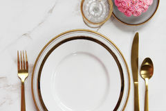 Elegant meal time Royalty Free Stock Image