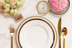 Elegant meal time Royalty Free Stock Images