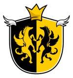 Elegant medieval king emblem Royalty Free Stock Images