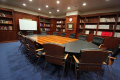 Elegant meeting room Stock Images