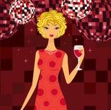 Elegant meisje in night-club Royalty-vrije Stock Fotografie