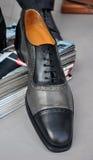 Elegant men's leather shoe Royalty Free Stock Photo