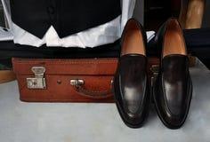 Elegant men's leather shoes Stock Image