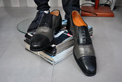 Elegant men's leather shoes Royalty Free Stock Photography