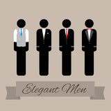 Elegant Men in Suit Royalty Free Stock Images