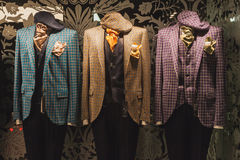 Elegant menswear on display at Si' Sposaitalia in Milan, Italy Stock Image