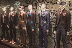 Elegant menswear on display at Si' Sposaitalia in Milan, Italy Royalty Free Stock Photo