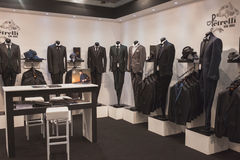 Elegant menswear on display at Si' Sposaitalia in Milan, Italy Royalty Free Stock Photos