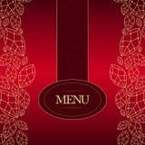 Elegant Menu. Elegant red & gold menu design Stock Images