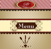 Elegant menu design for cafe Stock Photos