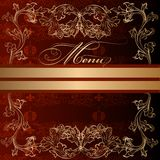 Elegant menu design in luxury royal vintage style Royalty Free Stock Photography