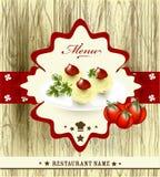 Elegant menu design for restaurant Stock Photos