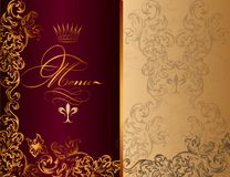 Elegant menu design in royal style Stock Photos