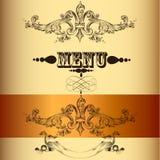 Elegant menu design in vintage style Stock Photography