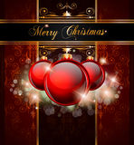 Elegant Merry Christmas  background Stock Images