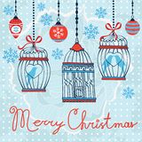 Elegant Merry Christmas card Stock Photos