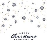 Elegant merry christmas festival background with snowflakes. Vector Royalty Free Stock Photography