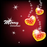 Elegant Merry Christmas. And Happy New Year postcard Royalty Free Stock Photos