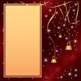 Elegant Merry Christmas red card Stock Image