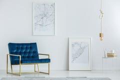 Elegant meubilair in luxueuze binnenlands stock fotografie