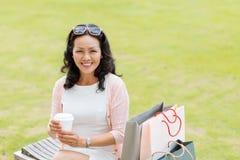 Elegant middle-aged woman Stock Photo