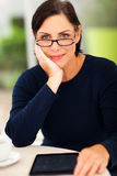 Elegant middle aged woman Stock Photo