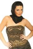 elegant model kvinna för skönhetklänning Royaltyfri Bild