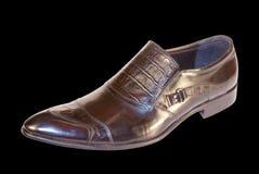 Elegant model of man's footwear Stock Image