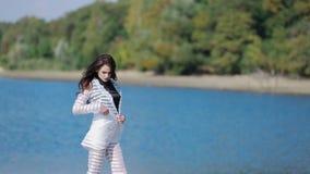 Elegant Model Posing stock video