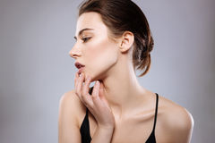 Elegant model showing off her face Royalty Free Stock Photos