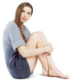 Elegant model in woollen sweater Stock Photography