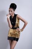 Elegant modemodell Royaltyfri Bild