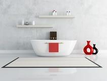 Elegant modern bathroom. With fashion bathtub - rendering Stock Image