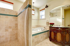 Elegant modern bathroom with shower Stock Photo