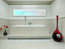 Elegant Modern Bathroom stock images