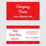 Elegant and modern business card. The refined design. Background of triangular mosaic deep red Royalty Free Stock Images