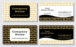 Elegant and modern business card. The refined design. A beautiful combination of gold, yellow, white and black colors. Vector illustration vector illustration