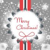 Elegant modern christmas card Stock Image