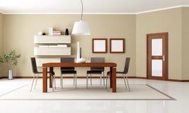 Elegant modern dining room Stock Image