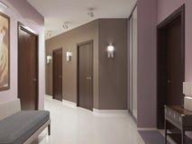 Elegant modern hallway trend Stock Images