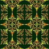 Elegant modieus abstract bloemenbehang. Naadloze patroonachtergrond. Stijl van de luxebehang van Damascus. Vector Royalty-vrije Stock Foto